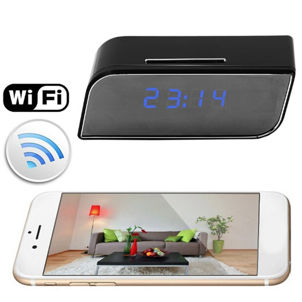 Mini câmera 1080 completa hd relógio de alarme visão noturna detecção movimento wifi ip cam dv dvr filmadora vigilância segurança em casa quente