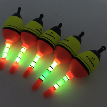 Hot Selling Night Glowing Fishing Floats 5pcs 5g EVA float+10pcs Glow Light Luminous stick