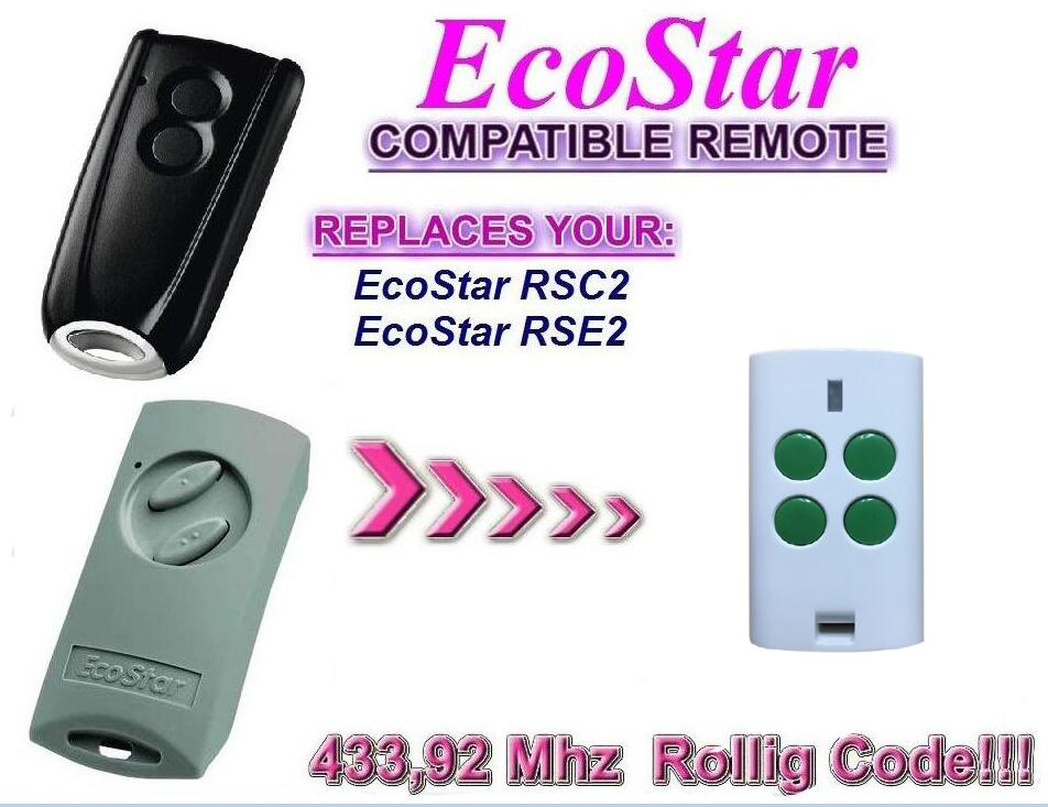 For HORMANN ECOSTAR rolling code ecostar compatible remote control free shipping