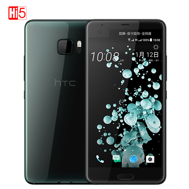 "2017 Hot Original HTC U Ultra Mobile Phone 5.7"" Android 7.0 Qualcomm Snapdragon 821 Fingerprint 4GB RAM 64GB ROM NFC 3000mAh"