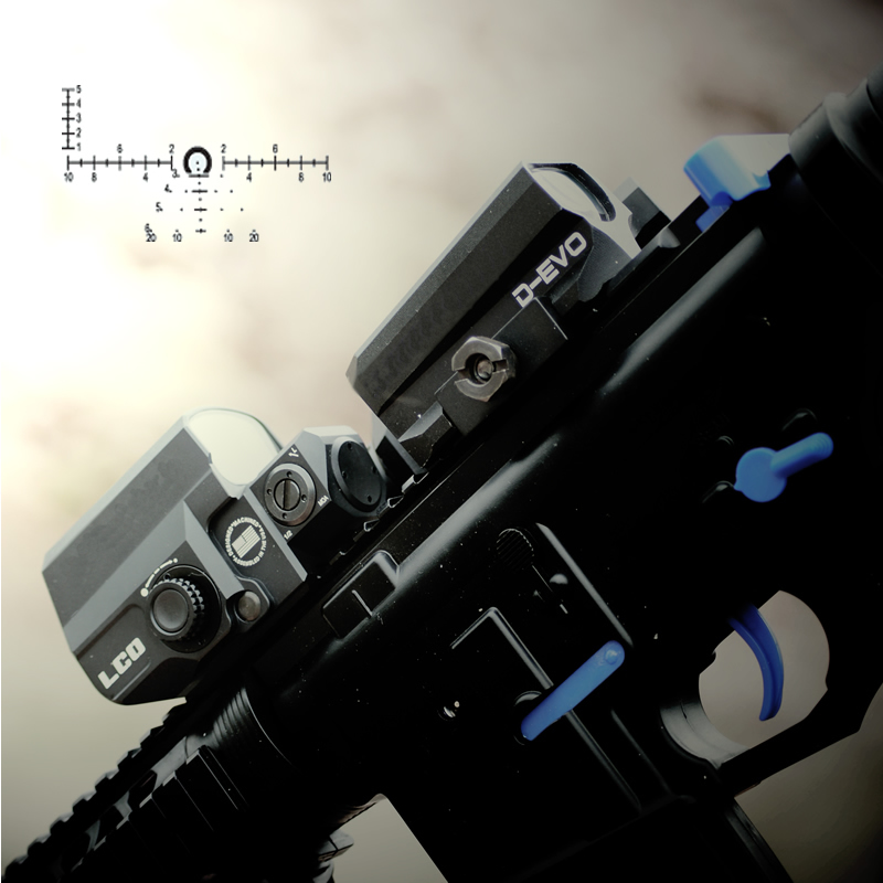 LP D EVO Dual Enhanced Optic with Special Reticle Magnifier with LCO Reflex Red Dot