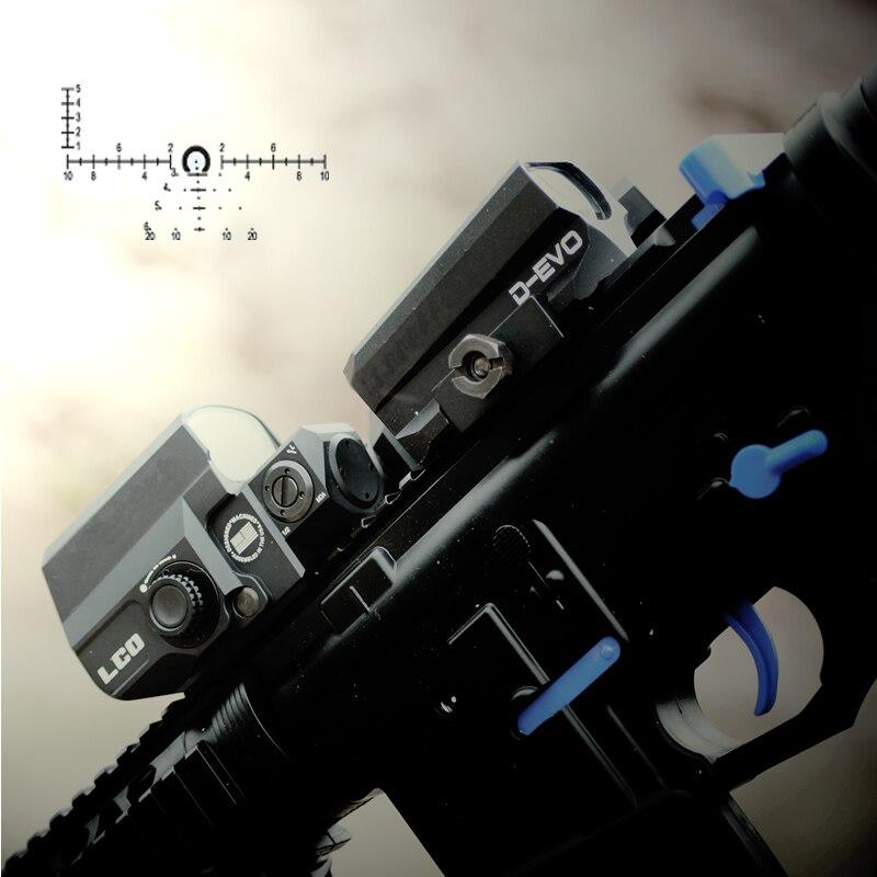 LP D-EVO Double-Renforcée Optique avec Réticule Spécial Loupe avec LCO Reflex Red Dot