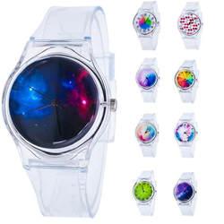 Студенческие часы с радугой Детские Девочки силикагель наручные часы Детские Кварцевые часы милые часы Montre Enfant 8,22