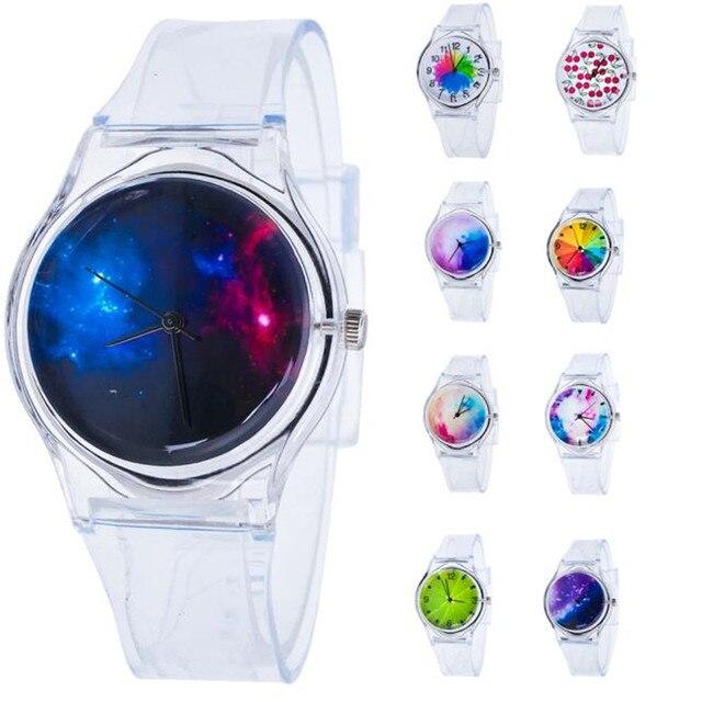 Students rainbow Watches Kid Girls silica gel Wristwatch Children Quartz Watch C