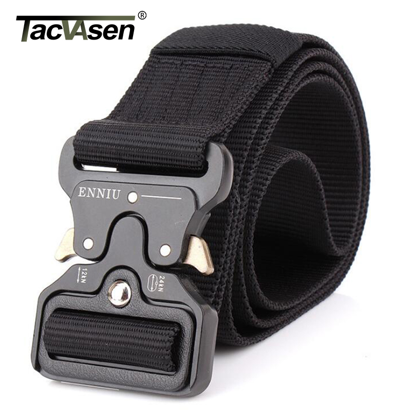 TACVASEN Men SWAT Military Equipment Paintball Army Belt Heavy Duty US Soldier Combat Tactical Belts Nylon Waistband TD-BLL-001