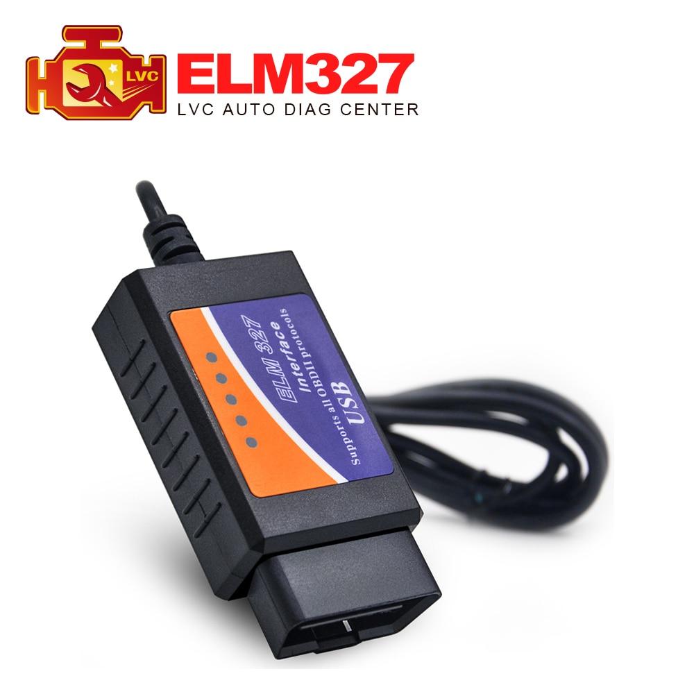 Цена за 5 Шт./лот 2017 Высокое Качество ELM327 USB OBD2/OBDII Code Reader Сканер ELM 327 Автомобиля Диагностический инструмент Бесплатная Доставка