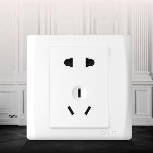 Image 5 - Enchufe de pared eléctrico para Xiaomi, placa frontal eléctrica AC250V 10A, 5 pines, toma de carga de 86x86mm, color blanco puro