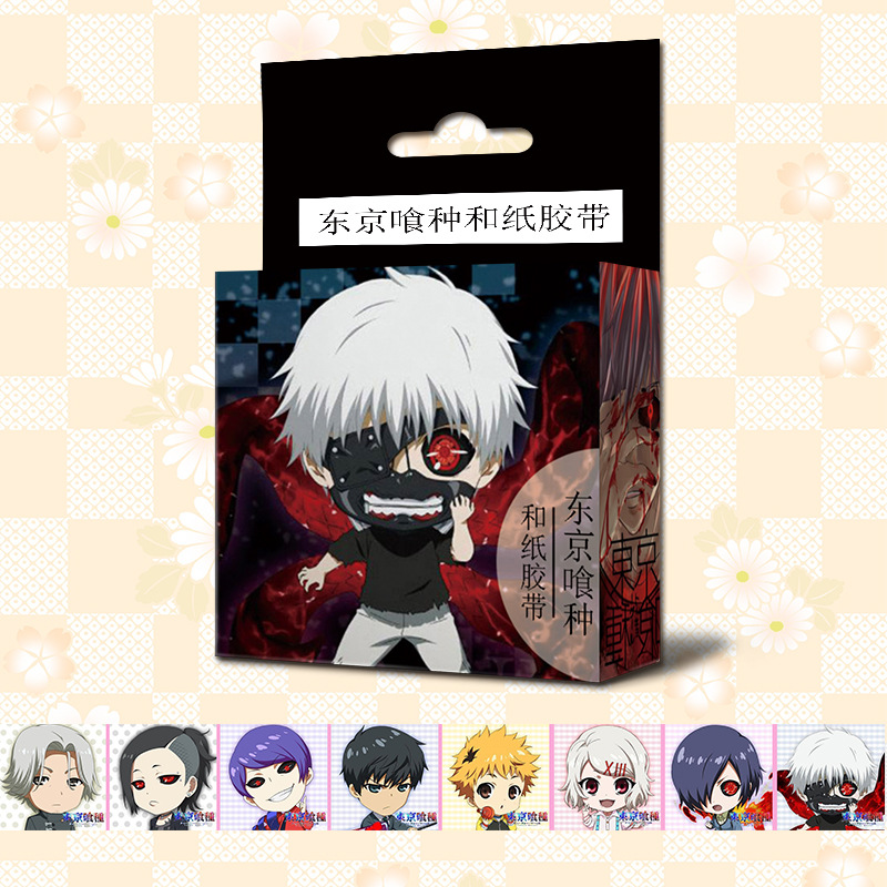 1.5cm*5m Anime Tokyo Ghoul Cartoon Washi Tape Adhesive Tape DIY Scrapbooking Sticker Label Masking Tape