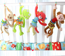 Toys Bed Stroller Hanging Animal Musical Mobile bell Infant Educational Toys pull shock Rattles Baby Gift 20% off