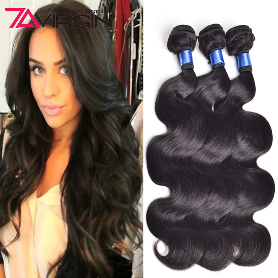 Straight hair perm products - Human Hair Extensions Cheap Brazilian Virgin Hair Body Wave 3pcs Lot 7a Virgin Brazilian Hair Bundles Brizilian Body Wavy Hair