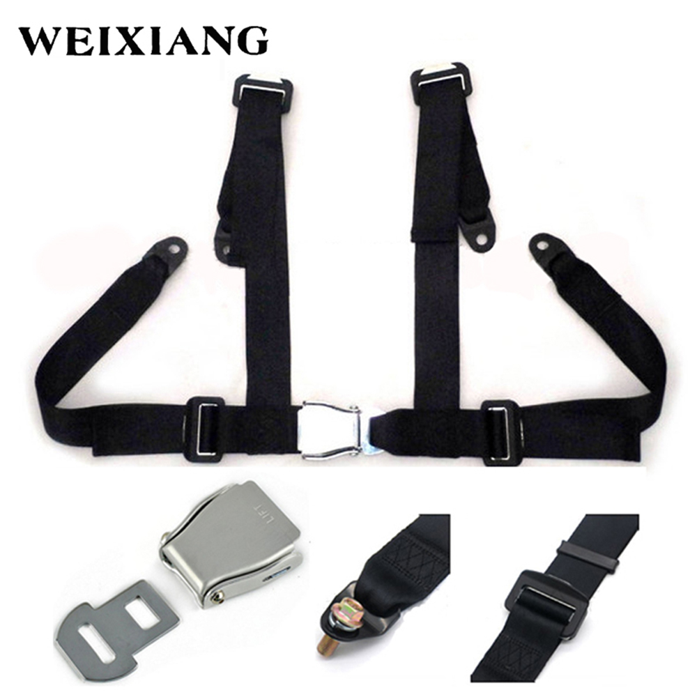 Universal 4PT 4 Point Sport Racing Style Seat Belt Harness Car Seat Safety Harness With Steel