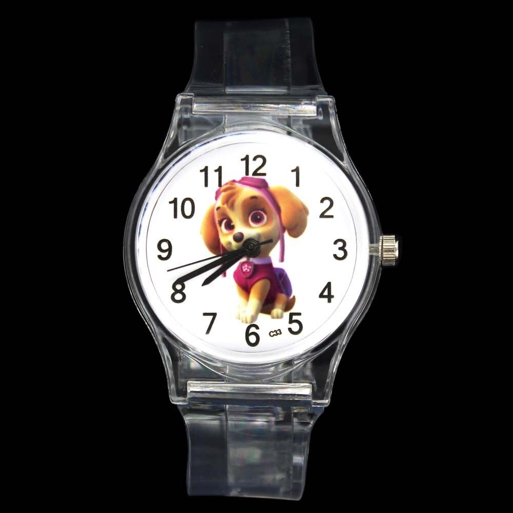 3D Puppy Funny Pet Dog Animal Kids Children Quartz Watch Baby Boy Girl Unisex Sport Transparent Band Wrist Watches