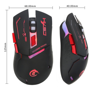 Image 5 - HXSJ X30 New USB Charging Colorful Luminescence Gaming Gamer Mouse 2400DPI Removable Computer PC Gaming Mouse