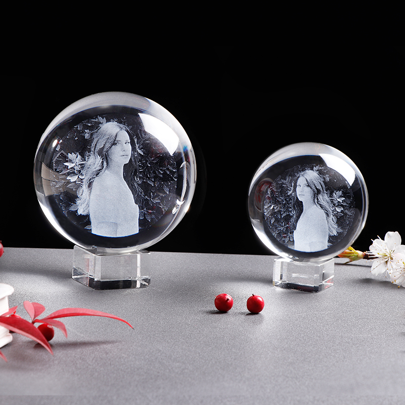 Personalized Crystal Photo Ball Customized Picture Sphere Globe Home Decor Accessories Baby Photo Gift for Girlfriend 5