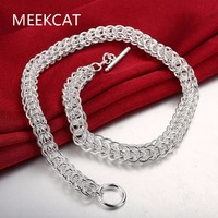 Men S 18 45cm 10mm High Quality 925 Stamped Silver Plated Necklace 72g Solid Snake Chain