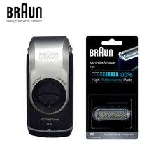 Бритва для Электробритва Braun M60 с питанием от аккумулятора для мужчин, портативная моющаяся бритва для бритья и удаления волос, безопасная бритва