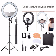ES180 Ring LED Light 180PCS Stand Phone Clamp Tripod Head Adjustable Camera Photo/Video Portrait Photography Ring Light EACHSHOT