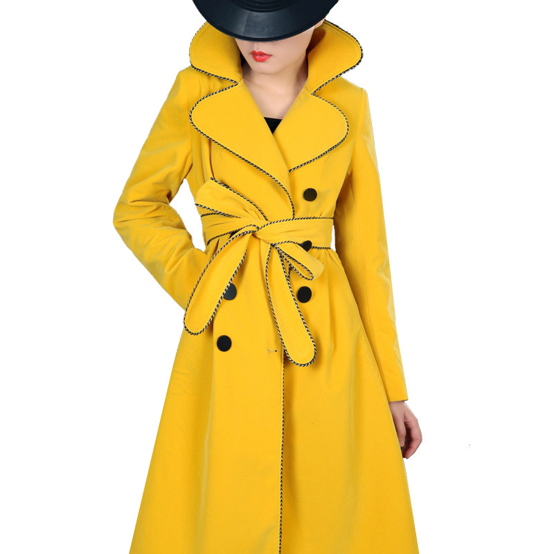 2019 Spring Autumn   Trench   Coat Vintage Elegant Women Causal Long Sleeve Double-breasted Retro Female Casaco Feminino Coats L181