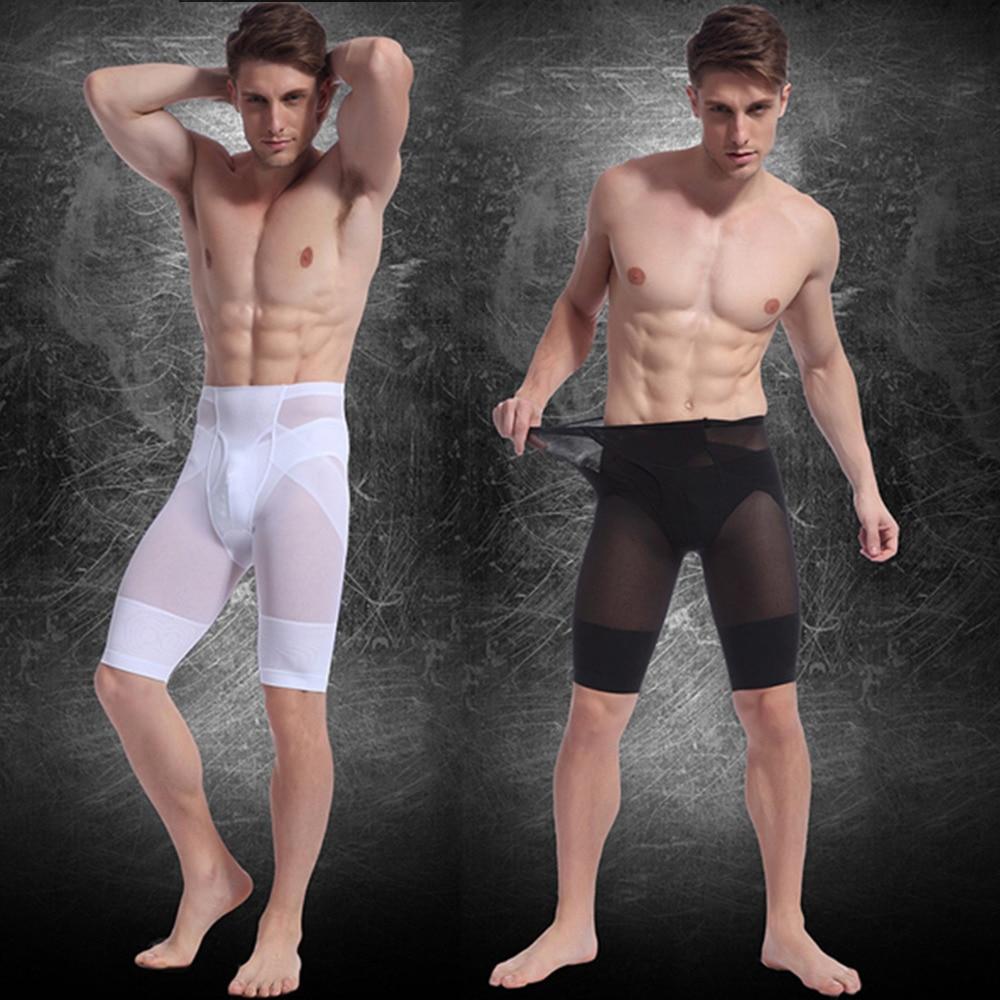 d27e524709908 New Men Waist Fitness Corsets Jogger Body Contour Shaper High Waist Slimming  Compression Body Contour Shaping Thigh Leg Pants-in Shapers from Underwear  ...