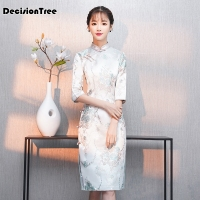 2019 summer lace embroidery black cheongsam dresses split qipao modern chinese dress traditional evening gown oriental women