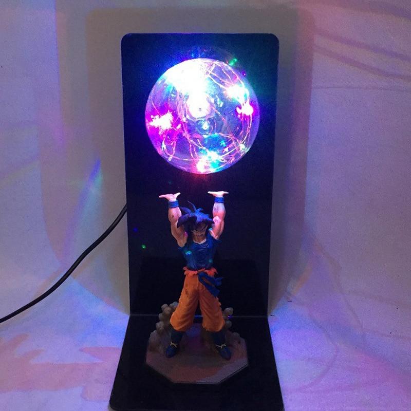 Dragon Ball Z fils Goku force bombe bricolage lampe ensemble Anime Dragon Ball Goku Super Saiyan Anime LED figurine jouets cadeau d'anniversaire