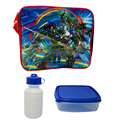 Transformers lunch bags Cartoon kids lunch bag cooler thermal bag insulated lunch box bag for kids boys with box& bottle