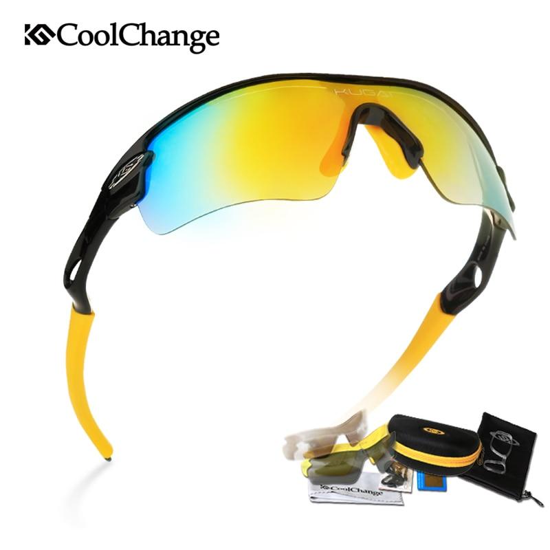 Prix pour Hot Vendu 2017 Coolchange Vélo Lunettes lunettes de Soleil Lunettes Balistiques Lunettes Haute Qualité 5 Groupes de Lentilles Livraison Gratuite