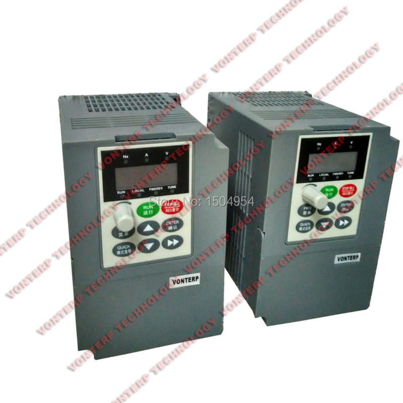Good performance 0.75KW 220v single phase input and 220v 3 phase output Vector control V/F curve Frequency Inverter 2 2kw single phase input to 380v output three phase inverter vfd driver good in condition for industry use module vector