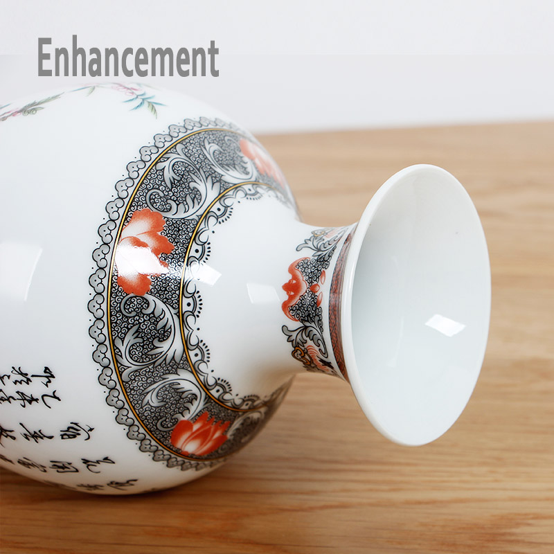 Neue Ankunft Antike Jingdezhen Keramik Vase Platet Set Klassische - Wohnkultur - Foto 5