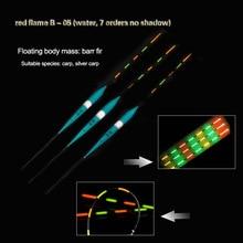 3pcs/lot Led Electronic Fishing Float Balsa Wood Night Vision Electric Float Fishing Tackle Luminous Float 1# 2# 3#