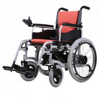 BZ 6101A Aluminum High Quality Folded And Safety Folding Electrical Wheelchair For Disabled And Elderly People