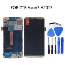 Pantalla LCD Original AMOLED para zte Axon 7 Montaje de digitalizador con pantalla táctil para zte A2017 A2017U A2017G Axon7 LCD