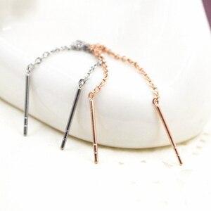 Серьги цепочки из титановой стали цвета розового золота, ювелирные изделия с кисточками, женские модные серьги для женщин, свадебные украшения|Серьги-подвески|   | АлиЭкспресс