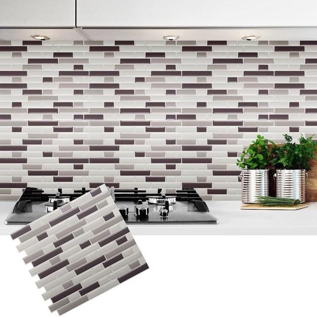 Autoadhesivo mosaico de azulejos de pared pegatina diy - Pegatinas para tapar agujeros en azulejos ...