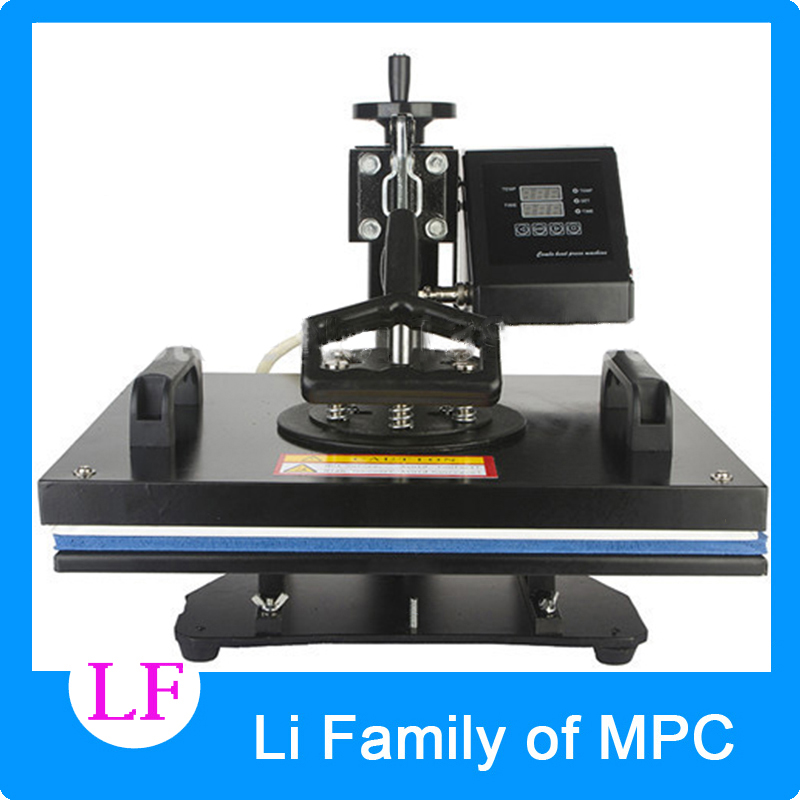 6 in 1 Multifunctional Heat Transfer Press Machine 110V/220V 1350W Rotatable 30*38cm T-shirt Hot Marking Machines 1pc 23x30cm heat transfer machine laser cutting t shirt hot press small heat press machine hp230a