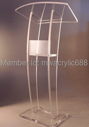 Free Shipping High Quality Soundness Modern Design Cheap Clear Acrylic Lectern free shipping high quality modern design cheap clear acrylic lectern for church