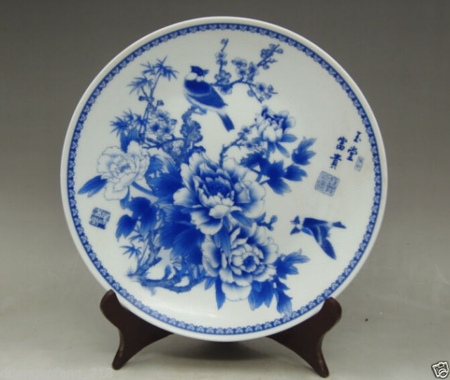 Collection chinese blue and white porcelain hand painting flowers collection chinese blue and white porcelain hand painting flowers birds plate in bowls plates from home garden on aliexpress alibaba group mightylinksfo