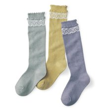 Children Kids Girls School Lace Stockings Leg Warm Cotton High Knee Socks QL