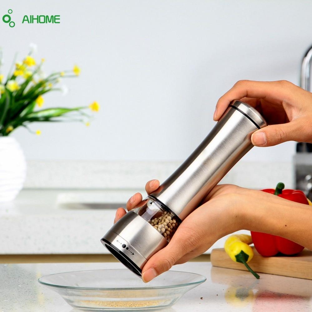 Manual de acero inoxidable Sal Especias Molinillo de pimienta Molinillo de maíz Grano de café Molinillo Molinillo Muller Cocina Gadget de cocina