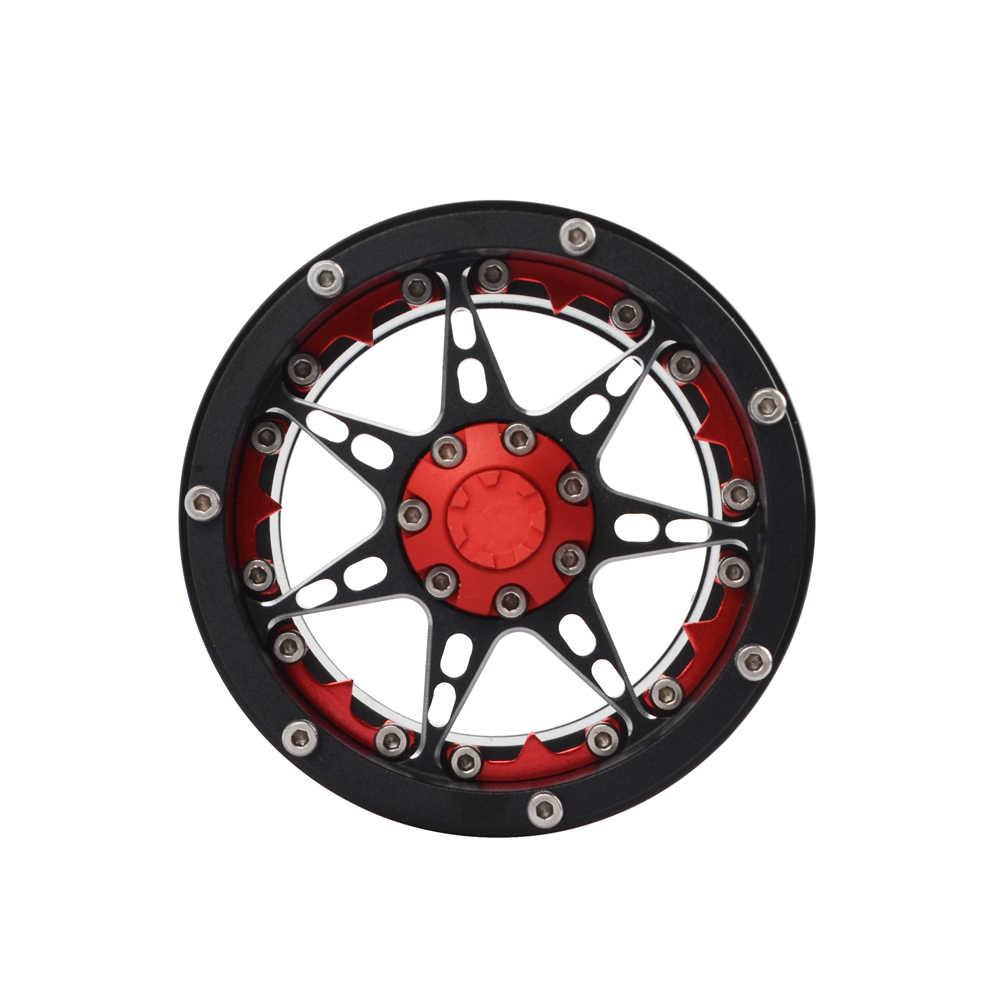 ARC0005 4 Stuks Aluminium 2.2 Inch Beadlock Wielen Velgen Voor 1/10 RC Rock Crawler Axiale SCX10 RR10 Wraith 90056 traxxas TRX4