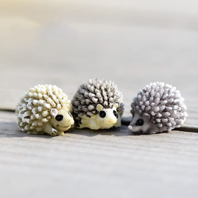 ZOCDOU Cute Hedgehog Hedgepig Urchin Small Statue Home Decoration Accessories Miniature Children Toys Decor Crafts Figurines 2