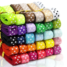 Coceca 30-Color 60 Yard (30×2 Yard) 3/8″ Dot Grosgrain Ribbons for DIY Bow knot, Hair Ornaments, Gift Packaging