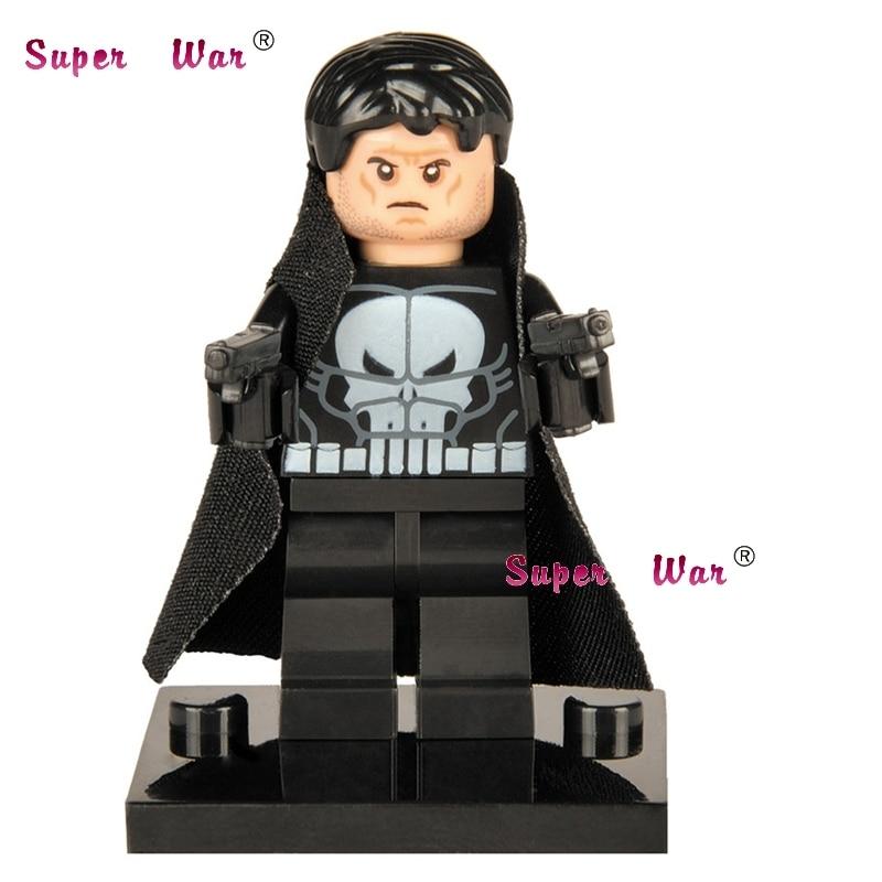 1PCS star wars superhero marvel avengers Punisher building blocks action sets model bricks toys for children