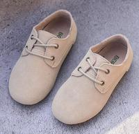 Hot sale New Children casual Sneakers Cowhide suede leather Boys and Girls lace-up Oxford kids Shoes 8 color Lace up