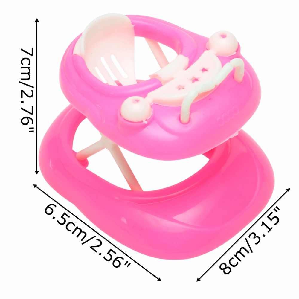 Новый 1:6 розовый пластиковый ходунки игрушки для кукольного дома кукольный домик Миниатюрный дисплей