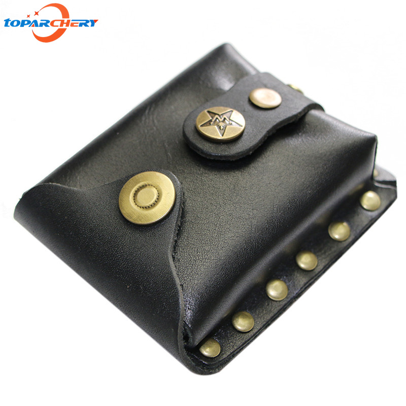 Slingshot Accessories Genuine Leather Bags For Hunting Shooting Games Sling Shot Stainless Steel Balls Bag Case Pouch Holster