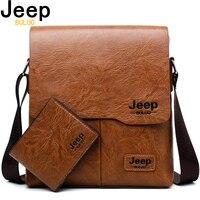 Мужские сумки-тоут, набор Jeep buluo, известный бренд, новая модная мужская кожаная сумка-мессенджер, мужская сумка через плечо, деловые сумки дл...