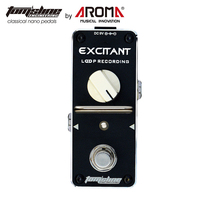 AROMA High Quality Electric Guitar Effect Pedal Loop Recording True Bypass Unlimited Overdubs Aluminum Body Low
