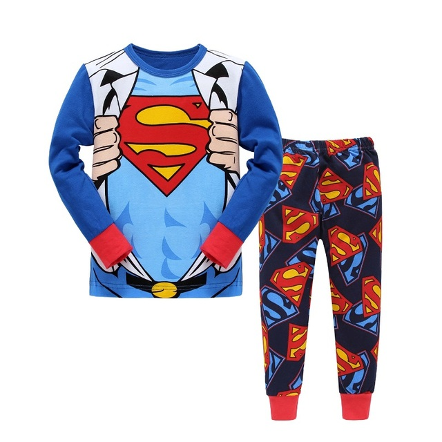 000f77f57b3c PJ Super Baby Cotton Pajamas Set Children Pajama Spring Summer Pjs ...