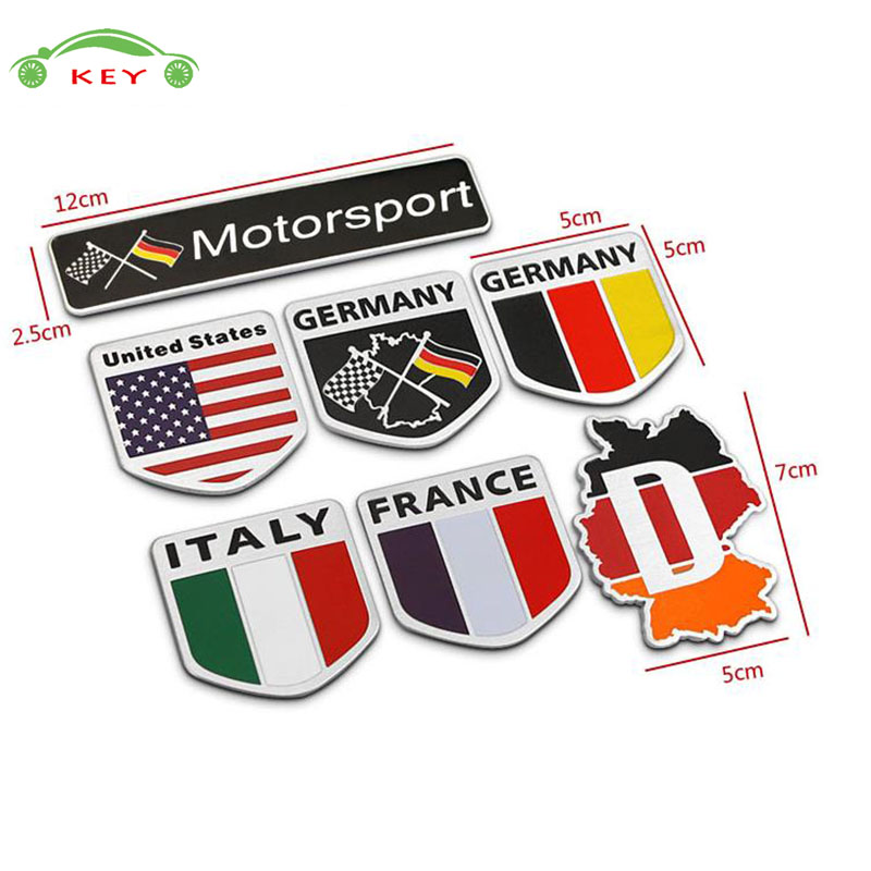 for Ford Audi Subaru Yamaha Opel Peugeot Honda LADA Decal Sticker Car Styling Accessories Auto National Flag Emblem Badge high quality car styling front or back explorer sticker letters emblem logo for ford explorer badge emblem auto accessories